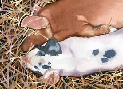 Pork Painting - Shhhhh by Marsha Elliott