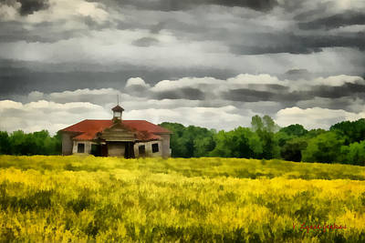 Art Print featuring the painting Shiloh School by Lynne Jenkins
