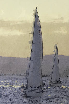 Shilshoe Marina Races 1 Original by Arthur Kuntz