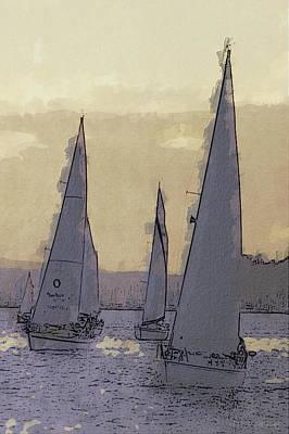 Shilshoe Marina Races 2 Original by Arthur Kuntz