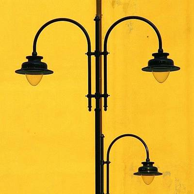 Shine On.. #italy #lamppost Art Print