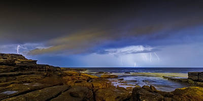 Maroubra Photograph - Shining Strom by Mark Lucey