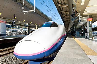Shinkansen At Tokyo Station Art Print by Ulrich Schade