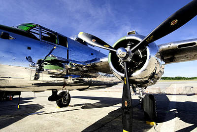 P51 Mustang Photograph - Shiny by Greg Fortier