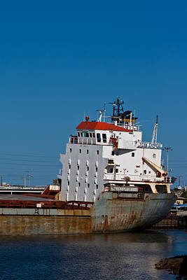 Photograph - Ship Aground by Ed Gleichman