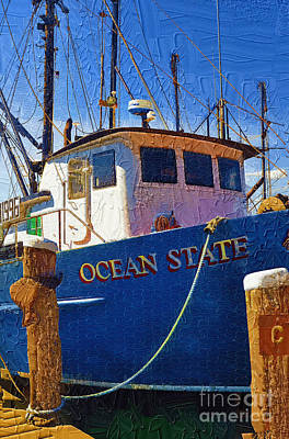 Net Painting - Ship Of State by Diane E Berry