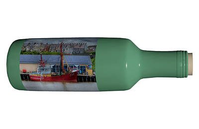 Ship In A Bottle Photograph - Ship On A Bottle With White by Steve Purnell