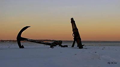 Photograph - Ship Wreck Anchor  by Ms Judi