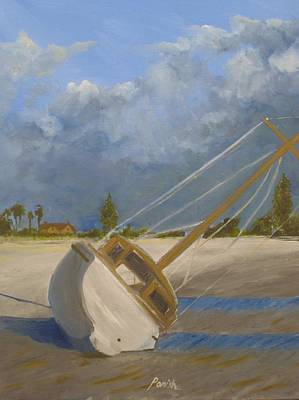 Aground Painting - Ship Wrecked In Coronado by Paintings by Parish