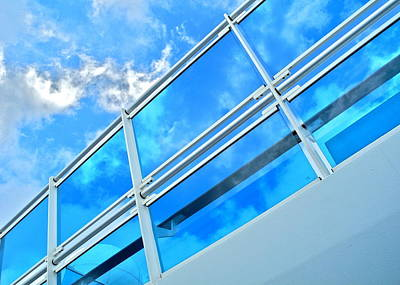 Photograph - Ship's Railing Against Blue Sky by Kirsten Giving