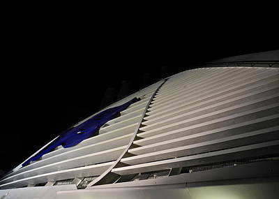 Photograph - Ship's Ventilation Structure At Night by Kirsten Giving