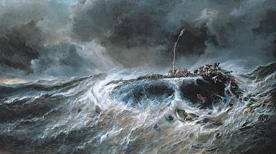 Ship Wreck Painting - Shipwreck by Louis Isabey