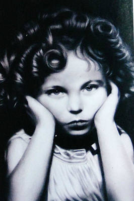 Shirley Temple Drawing - Shirley Temple by Steve Olsen