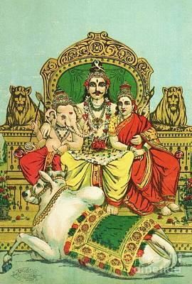 Shiva - Parvati Art Print
