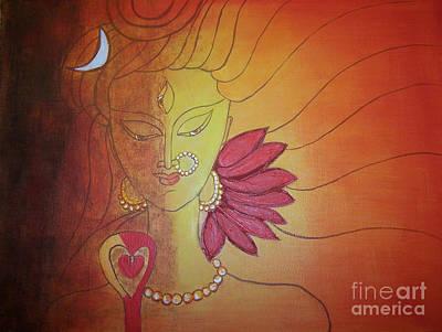 Shivshakti - Ardhnaarishwar Art Print by Anu Darbha