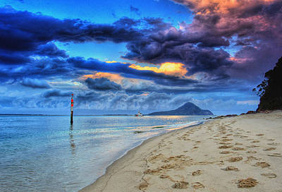 Photograph - Shoal Bay Sunset by Paul Svensen