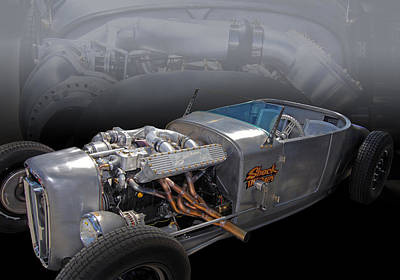1927 Ford Roadster Photograph - Shock Therapy by Bill Dutting
