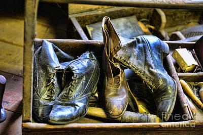 Shoe - Vintage Ladies Boots Art Print