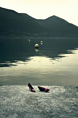 Buoys Photograph - Shoes At A Lake by Joana Kruse
