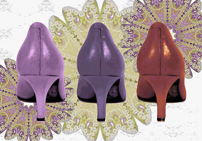 Shoes In Muted Shades Art Print by Maralaina Holliday