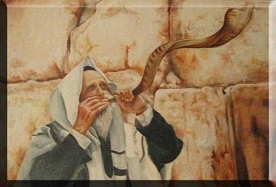 Painting - Shofar by Miriam Shaw