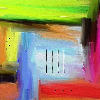 Abstract Art Painting - Shoop Wop Wop by Ely Arsha