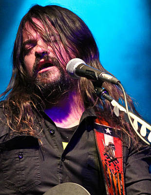 Photograph - Shooter Jennings - Center Stage by Elizabeth Hart