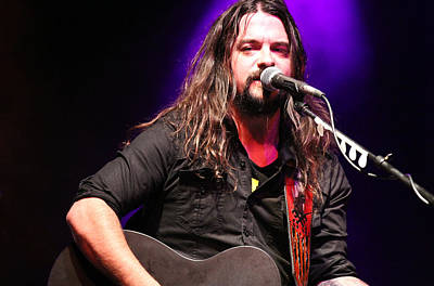 Photograph - Shooter Jennings - Three Down by Elizabeth Hart