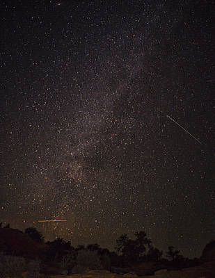 Shooting Star Photograph - Shooting Stars In The Milky Way by Andrew Soundarajan