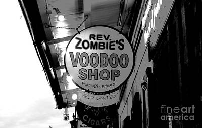 Voodoo Shop Wall Art - Digital Art - Shop Signs French Quarter New Orleans Conte Crayon Digital Art by Shawn O'Brien