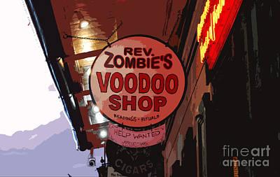 Digital Art - Shop Signs French Quarter New Orleans Cutout Digital Art by Shawn O'Brien