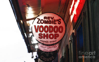 Voodoo Shop Photograph - Shop Signs French Quarter New Orleans Diffuse Glow Digital Art by Shawn O'Brien