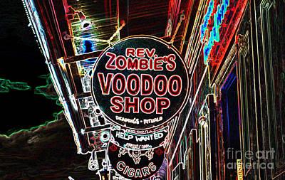 Digital Art - Shop Signs French Quarter New Orleans Glowing Edges Digital Art by Shawn O'Brien