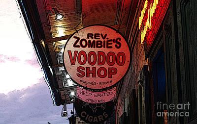 Voodoo Shop Wall Art - Digital Art - Shop Signs French Quarter New Orleans Poster Edges Digital Art by Shawn O'Brien