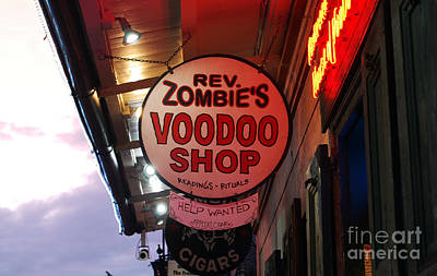 Voodoo Shop Wall Art - Photograph - Shop Signs French Quarter New Orleans by Shawn O'Brien