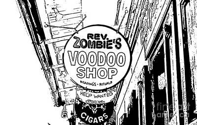 Voodoo Shop Wall Art - Digital Art - Shop Signs French Quarter New Orleans Stamp Digital Art by Shawn O'Brien