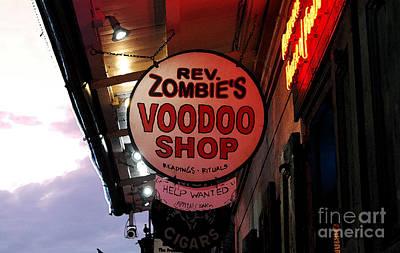 Voodoo Shop Wall Art - Digital Art - Shop Signs French Quarter New Orleans Watercolor Digital Art by Shawn O'Brien