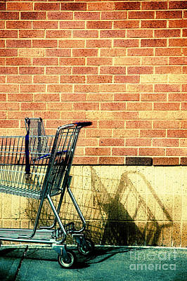 Shopping Cart Print by HD Connelly