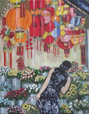 Shopping In Chinatown Art Print by Kim Selig