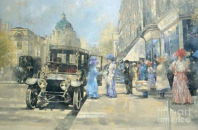 Peter Painting - Shopping In Style by Peter Miller
