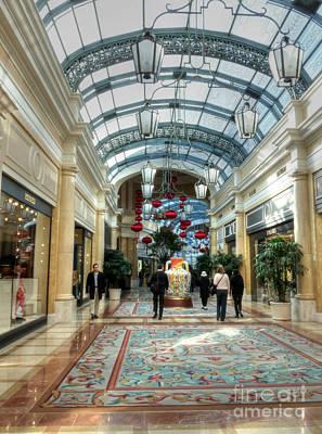 Photograph - Shops At Bellagio by David Bearden
