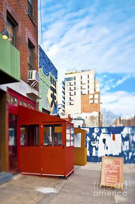 Shops On A City Street Art Print by Eddy Joaquim