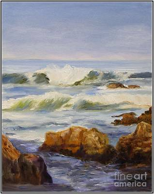 Painting - Shore At Pacific Grove by Alice Gunter