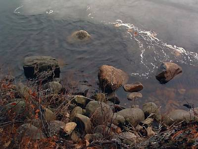 Photograph - Shoreart On The Edge Of Winter by William OBrien