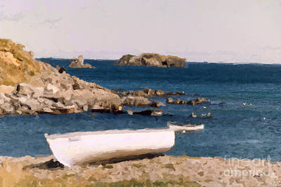 Photograph - Shoreline Boat by Mary Mikawoz