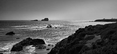 Shoreline Near Piedras Blancas I Art Print by Steven Ainsworth