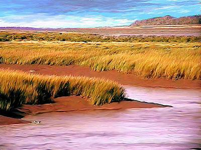 Shoreline Painting Wolfville Harbour Art Print