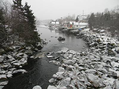 Photograph - Shorelines - Winter Dusts The Quiet Cove by William OBrien