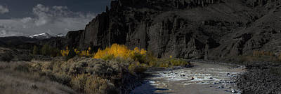 Shoshone Photograph - Shoshone River In The Fall by Twenty Two North Photography