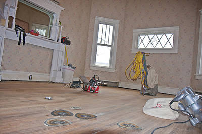 Country House Photograph - Show Me    Sand The Floor by Betsy Knapp